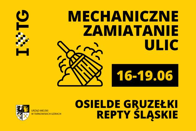 Zamiatanie ulic: Osiedle Gruzełki i Repty Śląskie - infografika