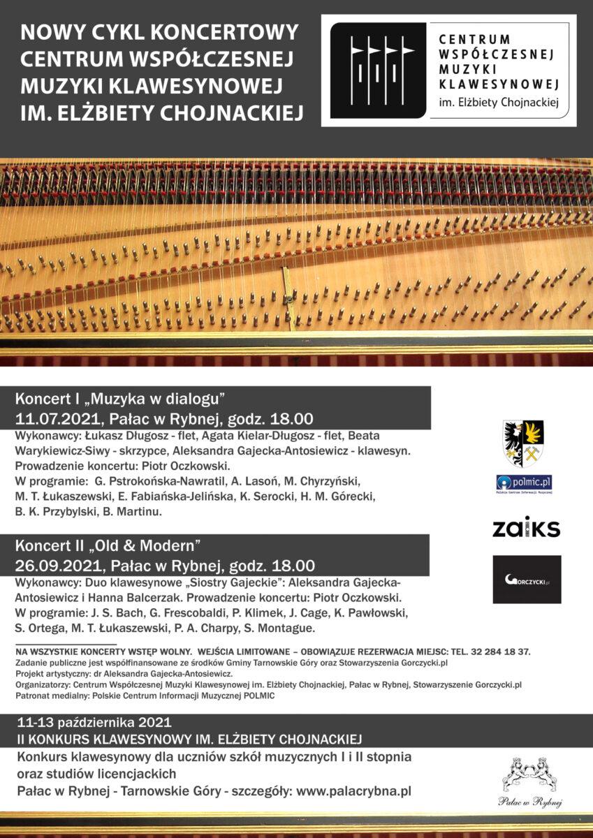 plakat cyklu koncertów muzyki klawesynowej