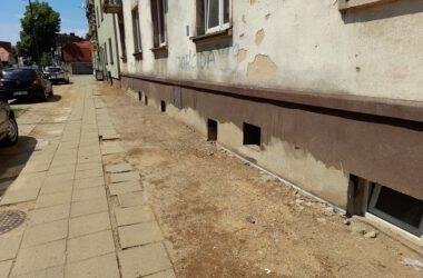 Prace remontowe na ulicy Sobieskiego