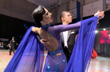 Para tańcząca tango podczas mistrzostw.