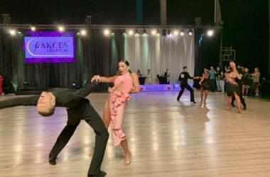Pary w tańcu w trakcie mistrzostw.