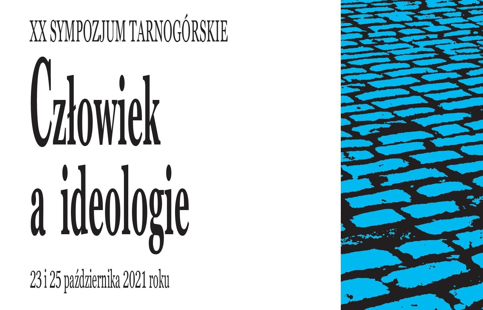 infografika XX Sympozjum Tarnogórskie, człowiek a ideologie.